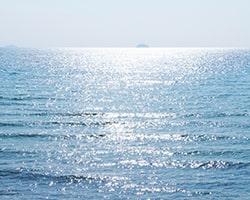 海への散骨をイメージした写真