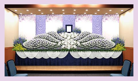 デザインにこだわった花祭壇