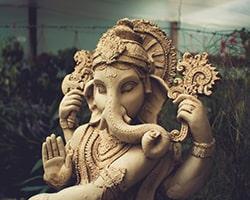 ヒンズー教の神様の一種である「ガネーシャ」